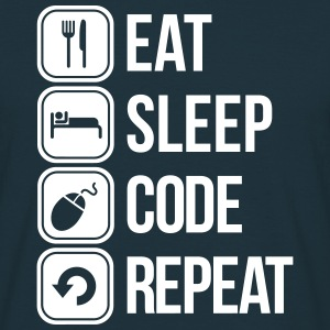 eat sleep code T-shirts - T-shirt herr
