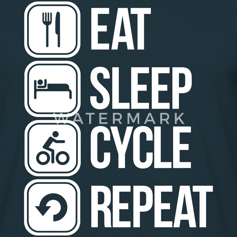 eat sleep cycle repeat T-shirts - T-shirt herr