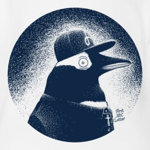 Weiß Pinguin dressed in black T-Shirts - Baby Bio-Kurzarm-Body