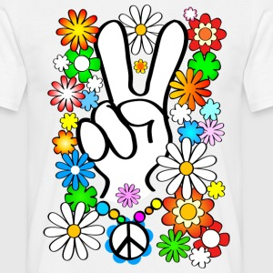 Flower Power Peace Shirt - Männer T-Shirt
