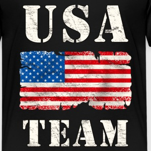 usa team grunge flag Shirts - Teenage Premium T-Shirt