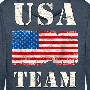 usa team grunge flag Sweat-shirts - Sweat-shirt à capuche Premium pour hommes