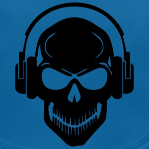 Skull with Headphones - Rave - Electro - Hardstyle Accessori - Bavaglino