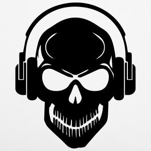 Skull with Headphones - Rave - Electro - Hardstyle Other - Pillowcase 40 x 40 cm
