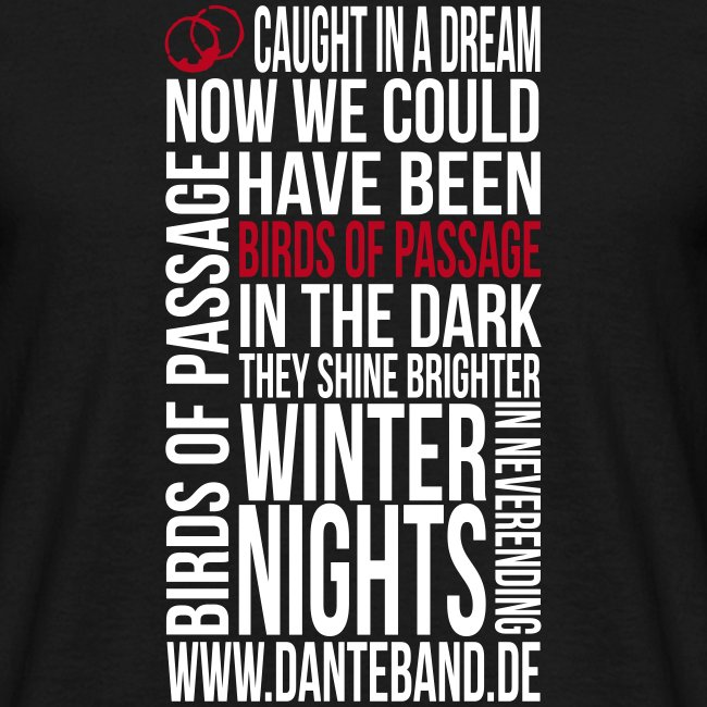DANTE T-Shirt men black standard - birds of passage
