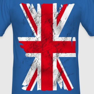 united kingdom grunge flag 02 T-Shirts - Men's Slim Fit T-Shirt
