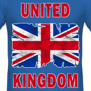 united kingdom grunge flag T-Shirts - Men's Slim Fit T-Shirt