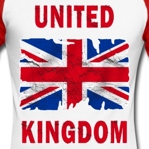 united kingdom grunge flag Manches longues - T-shirt baseball manches longues Homme