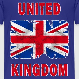 united kingdom grunge flag Shirts - Teenage Premium T-Shirt