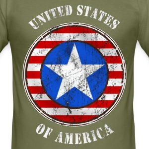 united states grunge style Tee shirts - Tee shirt près du corps Homme