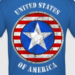 united states grunge style T-Shirts - Men's Slim Fit T-Shirt