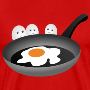 Three eggs look fried egg T-Shirts - Men's Premium T-Shirt