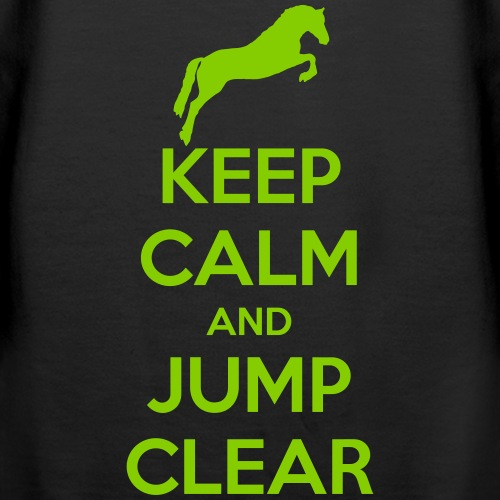 Keep Calm and Jump Clear Horse Design
