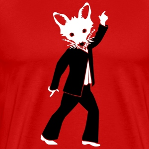 Disco Fox T-shirts - Herre premium T-shirt