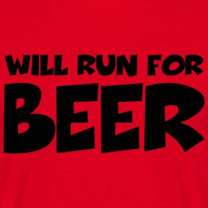 Will run for beer T-shirts - Mannen T-shirt