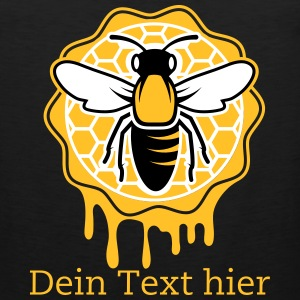 a bee and honeycomb Tank Tops - Men's Premium Tank Top