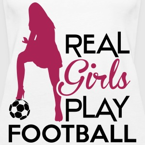 Real Girls play football Tops - Camiseta de tirantes premium mujer