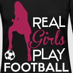Real Girls play football Langarmshirts - Frauen Premium Langarmshirt