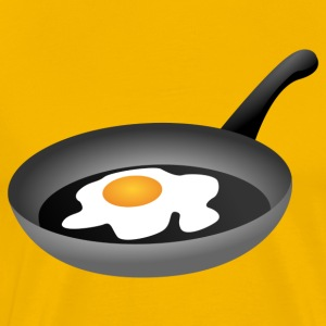 Fried egg in frying pan T-Shirts - Men's Premium T-Shirt