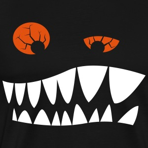 Toothed grimace with red eyes T-Shirts - Men's Premium T-Shirt
