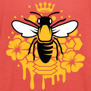 A bee with a crown Tops - Women's Tank Top by Bella