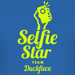 selfi star team duckface social net T-Shirts - Men's Slim Fit T-Shirt
