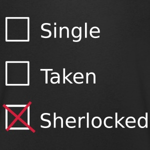 Single Taken Sherlocked T-shirts - Mannen T-shirt met V-hals