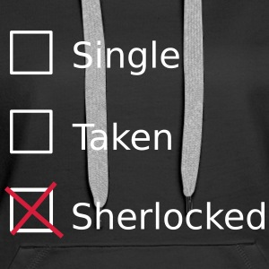 Single Taken Sherlocked Bluzy - Bluza damska Premium z kapturem