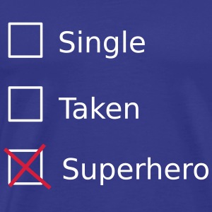 Single Taken Superhero T-shirts - Herre premium T-shirt