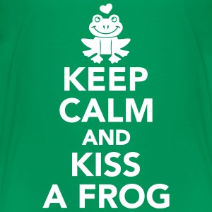 Keep calm and kiss frog T-Shirts - Kinder Premium T-Shirt