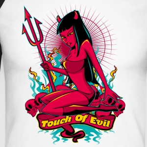 Devil Pin-Up Girl - Touch of evil Langarmshirts - Männer Baseballshirt langarm