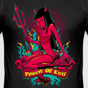 Devil Pin-Up Girl - Touch of evil T-Shirts - Männer Slim Fit T-Shirt