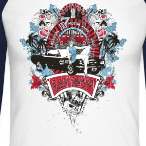 Pin Up Girl - Car Show No.02 Langarmshirts - Männer Baseballshirt langarm
