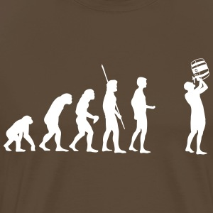 Evolution keg drinking T-Shirts - Men's Premium T-Shirt