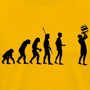 Evolution vat drinken T-shirts - Mannen Premium T-shirt