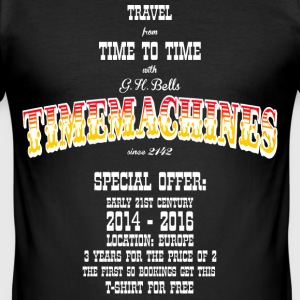 Timemachine for Dark Shirts T-Shirts - Men's Slim Fit T-Shirt
