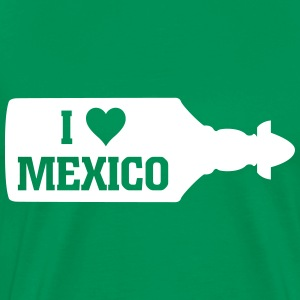 I Love Mexico Sierra Tequila Bottle T-shirts - Herre premium T-shirt