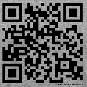 QR Code Young Free and Single - Men's Premium T-Shirt