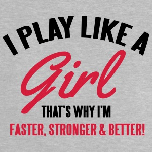 I play like a girl. That's why I'm faster Magliette - Maglietta per neonato