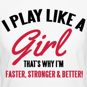 I play like a girl. That's why I'm faster T-Shirts - Women's Organic T-shirt