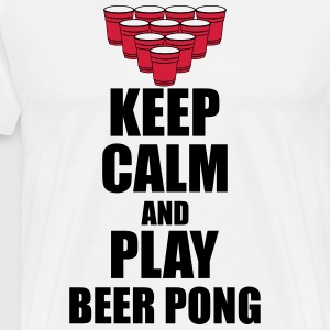Keep calm and beer pong Magliette - Maglietta Premium da uomo