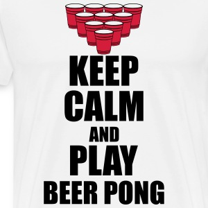Keep calm and beer pong T-Shirts - Men's Premium T-Shirt