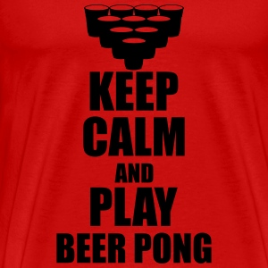 Keep calm and play beer pong T-Shirts - Männer Premium T-Shirt
