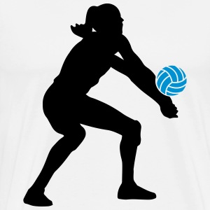 Volleyball Girl Tee shirts - T-shirt Premium Homme