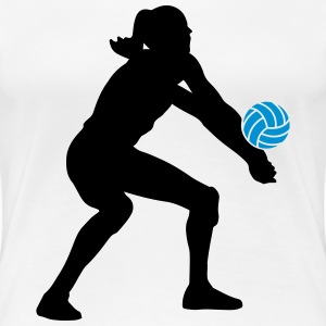 Volleyball Girl T-Shirts - Frauen Premium T-Shirt