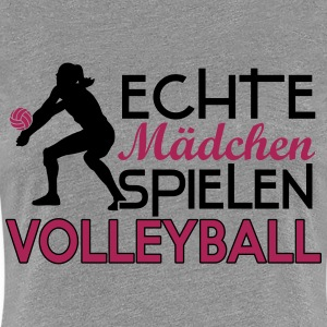 Real girls playing volleyball T-shirts - Vrouwen Premium T-shirt