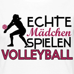Real girls playing volleyball Manches longues - T-shirt manches longues Premium Femme