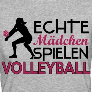 Real girls playing volleyball T-shirts - Vrouwen Bio-T-shirt