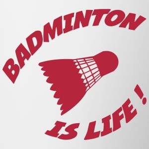 Badminton is life ! Flessen & bekers - Mok tweekleurig