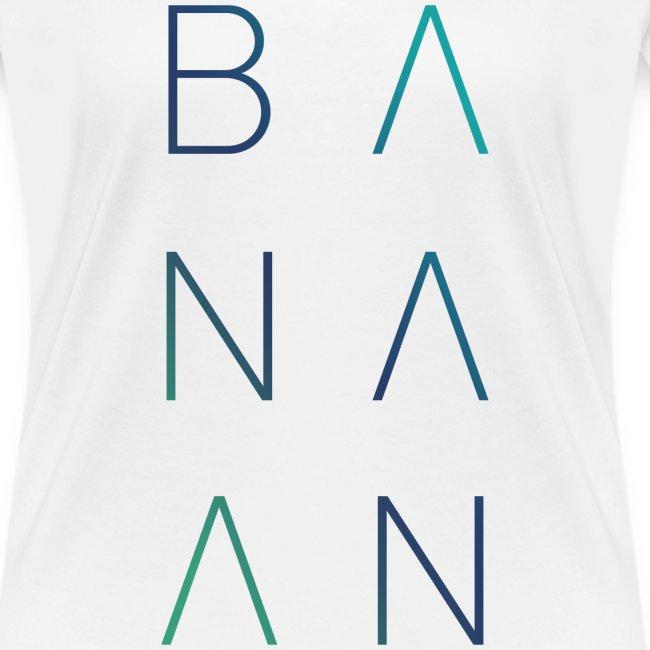 BANAAN/02 vrouwen v-hals bio